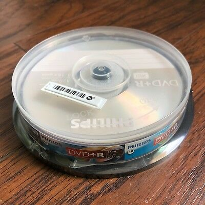 10-pk Philips 4x DVD-R W Rewritable 4.7GB Blank Recordable DVD-R DVD Media Disk