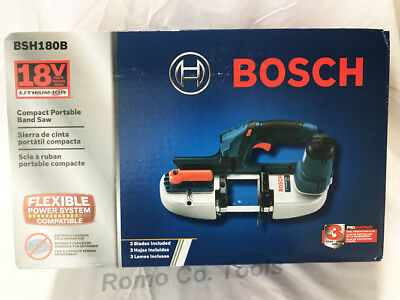 "BOSCH 18V Lithium 2-1/2"" Portable Band Saw(BT) BSH180B (New In Retail Packaging)"