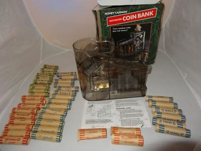 Money Cannon Motorized Coin Bank Sorts Stacks Counts Coins with Wrappers