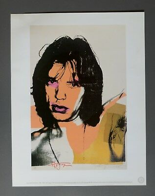 Andy Warhol Foundation Ltd. Ed. Offset Lithograph 31x40 Mick Jagger 1975 Signed