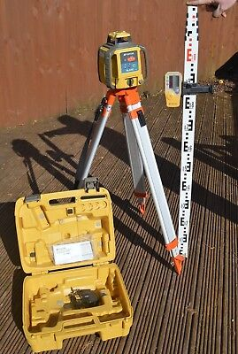 Topcon RL-H4C Laser Level with Rechargeable Battery, Tripod, Receiver, Staff