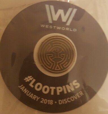 Westworld Pin| Anstecker| OVP| Lootcrate Exclusive