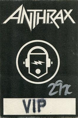 ANTHRAX 1993 Sound White Noise Concert Tour Backstage Pass!!! Authentic stage #1