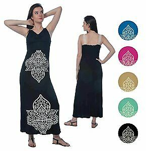 Women's Lace Strap Maxi Dresses - Ornate Prints - Sizes M-XL Case Pack 72 (22806