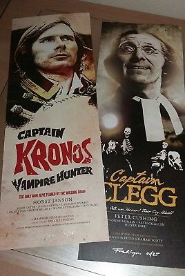 CAPTAIN KRONOS VAMPIRE HUNTER / CLEGG PETER CUSHING Hammer Horror film poster