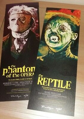 THE REPTILE / PHANTOM OF THE OPERA. Hammer Horror film art print poster.
