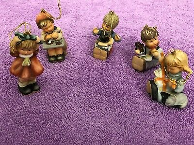 5 Vintage Berta Hummel Christmas Ornament, Little Gift Wrapper, 1997 and More