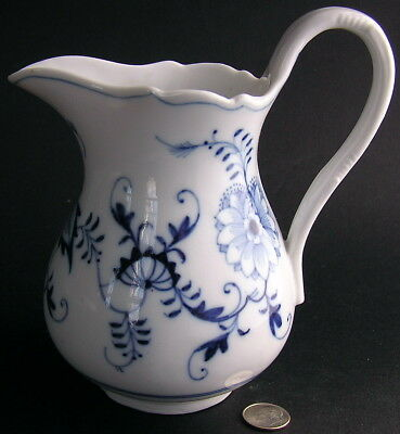 Vintage Meissen Porcelain Blue Onion Ernst Teichert Milk Jug Cream Pitcher