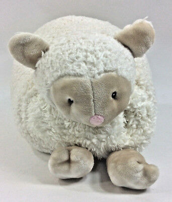 Little Miracles Sheep Lamb Pillow Fold Up Costco WHite Plush Blanket Pink Nose