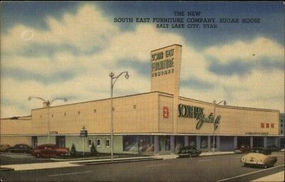 Salt Lake City UT Southeast Furniture Co Sugar House NICE LINEN Postcard