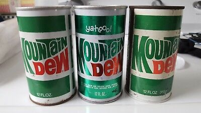 Mountain Dew Can Vintage Lot