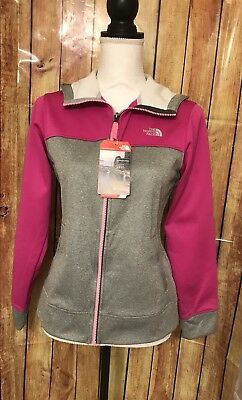 The North Face Girls Sweater Full Zip Hoodie Luminous Pink  XL(18) New