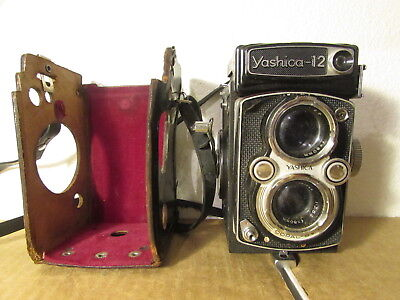 Vintage Yashica-12 COPAL-SV TLR Twin Lens Reflex 80mm F3.5/2.8 - Intested