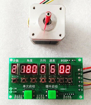 Stepper Motor Driver Controller Angle/Direction/Speed/Time Programmable 8-27V