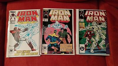 Iron Man #219 220 221 First Appearance The Ghost Storyline New Movie Villain NM!
