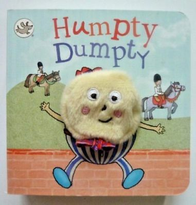 Little Learners Humpty Dumpty, Puppet Books For Children/Kids Age 2 yr+, New