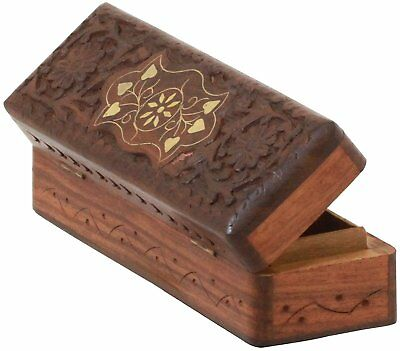 Wooden Box for Cufflink, Watch & Ring Holder Wooden Antique Box 8 Inches