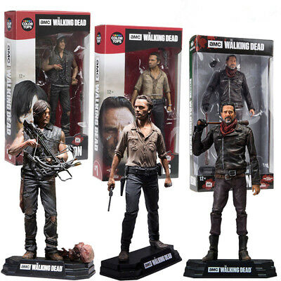 """Walking Dead Daryl/Negan/Rick The Season 7 Action Figure Boxed Movie Toy Gift 7"""""""