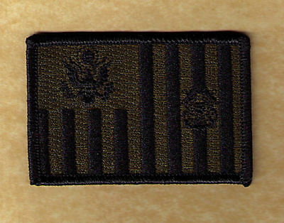 IRON-ON Ensign flag black/green 3x2 sharp W5491H-TED-EMP USCG Coast Guard patch
