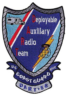 Deployable Auxiliary Radio Team DART-58 Oregon W5455 USCG Coast Guard patch
