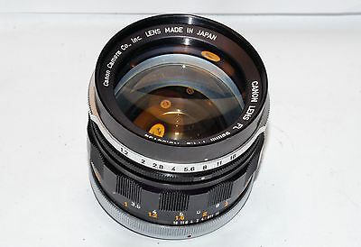 Rare Canon FL 58mm 1:1.2 FAST Prime lens- suit Nex A7 Fuji mirrorless or dSLR