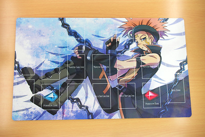 F2484+ Free Mat Bag Yugioh Crow Hogan Trading Card Game Custom Playmat Zones