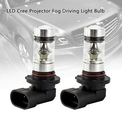 2Pcs 8000K White HB3 9005 H10 100W LED Bulb Daytime Running  Fog Light Headlight