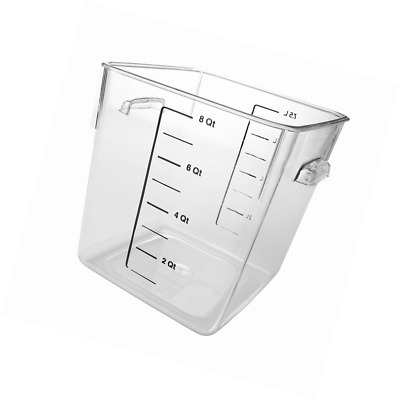 RUBBERMAID 6308 Space Saving Square Container 8 Quarts Clear RCP