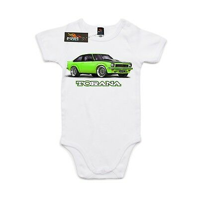 Baby, AS Colour, Mini me, Holden Torana A9X green car, Baby grow, Body suit.