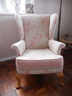 Parker Knoll Wingback Chair 720 - New Upholstery - Antique Rose