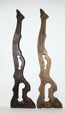 Set of 2 Pair Antique Vintage Architectural Salvage Wood Porch Corbels 27 1/2''