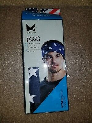 MISSION 16 in. x 32 in. Hydro Active USA Microfiber Cooling Bandana