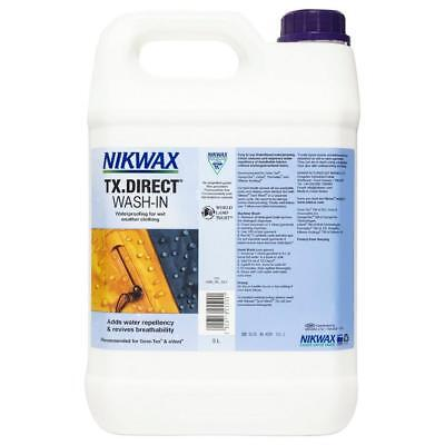 New Nikwax Tx Direct 5 Litre Fabric Washing Treatment Cleaning