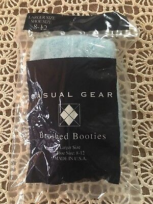 Nip Casual Gear Women's Brushed Acrylic Nylon Booties Light Blue Shoe 8-12 Usa