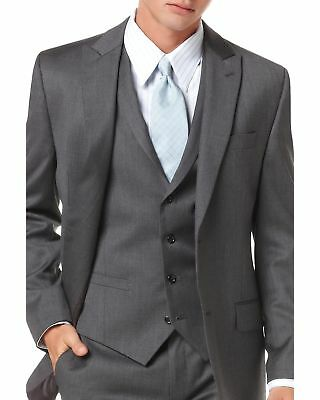 $301 ALFANI men GRAY WOOL SLIM FIT TWO BUTTON SUIT JACKET BLAZER SPORT COAT 44 R