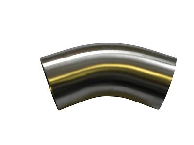 "1"" - 4"" Hygienic Weld 45 Degree ISO Bends 1.5xD to suit DAIRY TUBE 316L"