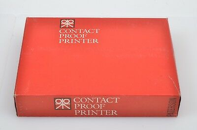 VERY CLEAN PATTERSON CONTACT PROOF PRINTER FOR 120 STRIPS, BOXED w/INSTRUCTIONS