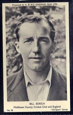 A&bc-All Sports (M120)-#026- Cricket - Middlesex - Edrich