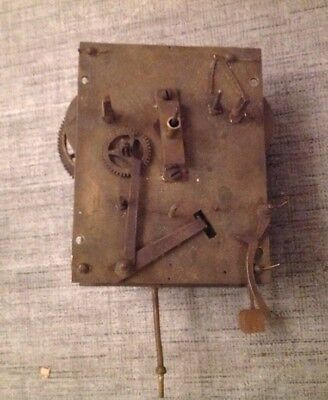 Antique Haller Clock Movement Weight Driven Hammer Chime 160x120mm For Repair