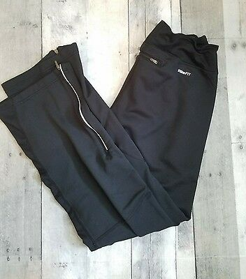 NIKE FIT DRY womens size S black stretch athletic sweat resistant pull on pants