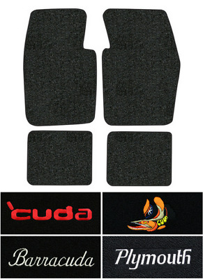 1964-1969 Plymouth Barracuda Floor Mats - 4pc - Loop