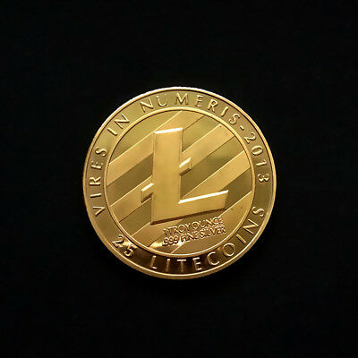 Gold Plated Commemorative Litecoin Collectible Golden Iron Miner Coin Gift