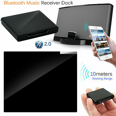 NEW Wireless Bluetooth Music Receiver Adapter Dock For iPhone iPod Bose Speaker