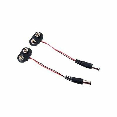 DC Power supply 13 cm 9V Battery Connector Cable arduino holder power 9 volts t