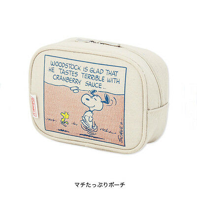 6.3'' Snoopy Peanuts Woodstock Toiletry Bag Bean Bag Print Hand Bag Canvas