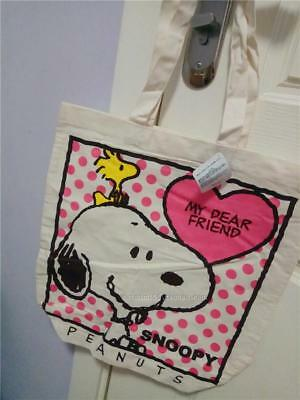 Snoopy Peanuts Tote Shoulder Shopping Bag recycle Canvas bag Woodstock USJ