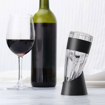 LANGRIA Red Wine Aerator Decanter Pourer Filter Set + Stand Base +Carrying Pouch