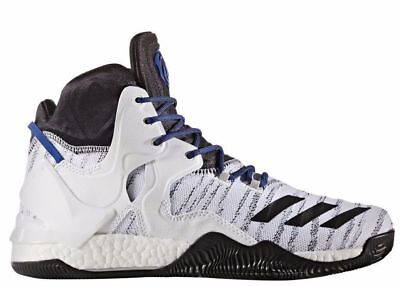 ee44d5cb0bcf DS Adidas D Rose 7 Boost VII White Basketball Shoe B72720 New Men s Size 12
