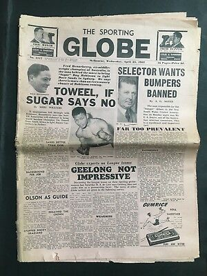 Sporting Globe Newspaper Wednesday April 23Rd 1952 Whole Paper 16 Pages
