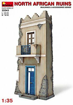 """Miniart 1:35 Scale """"North African Ruins"""" Plastic Model Kit (Grey)"""